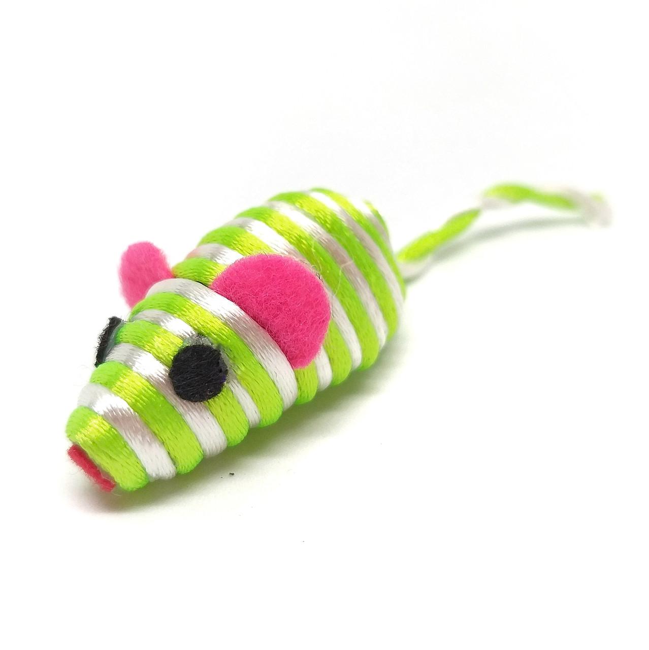Іграшка для котів Мишка Zizi салатова 5 см