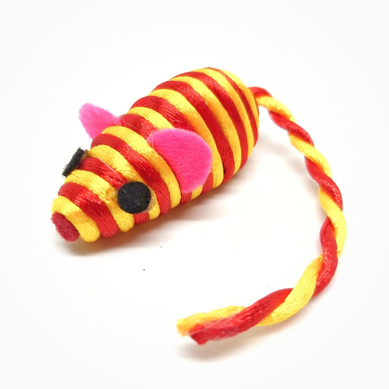 Іграшка для котів Мишка Zizi помаранчева 5 см