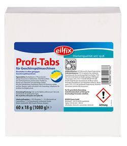 Таблетки для мытья посуды Eilfix Profi-Tabs 2 в 1, 60шт
