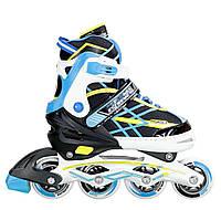 Роликовые коньки Nils Extreme NA1160A Size 35-38 Black-Blue - 227297