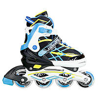 Роликовые коньки Nils Extreme NA1160A Size 39-42 Black-Blue - 227298