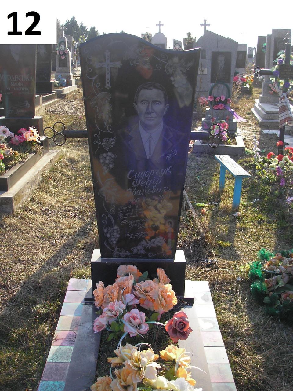 Пам'ятник на могилу без хреста із чорного граніту