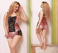 Пижама женская 50-52, 54-56 бархат и гипюр