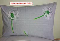 Наволочка бязь 50х70 - Весняні одуванчики, світлі