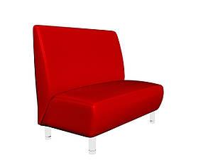 М'який диванчик для кафе Sentenzo Актив червоний 1200х700х900 мм