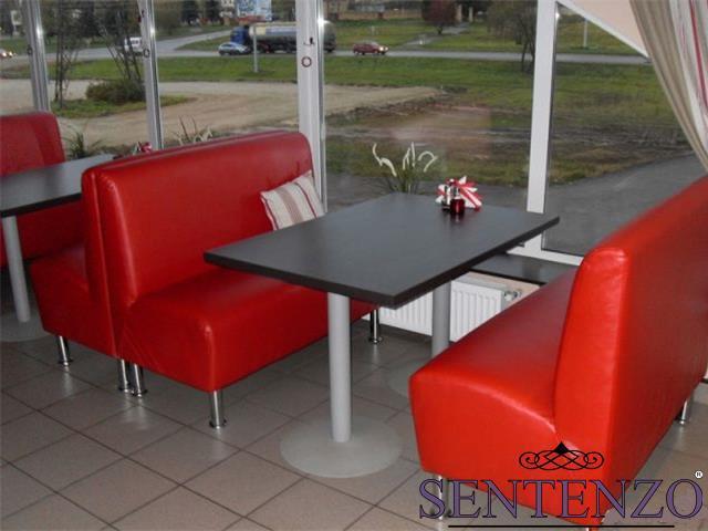Мягкий диванчик Sentenzo Актив 1200х700х900 мм красный кожзам