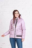 Молодежная женская куртка с капюшоном (42-50), доставка по Украине