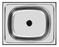 Накладна кухонна мийка Platinum 50*40 (см) у покритті polish (поированная), з товщиною 0,4 (мм), фото 1