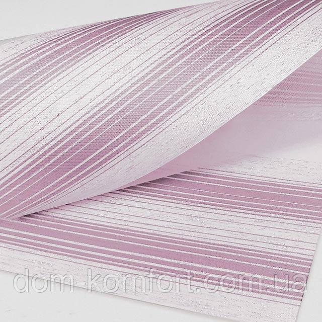 Стильные рулонные шторы День Ночь  Полоса цвет Розовый