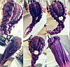 Голова для плетения волос с искусственным волосом плюс набор для плетения, фото 5