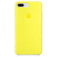 Силиконовый чехол - Silicone Case iPhone 7+/8+ Ярко-желтый (Lemonade)