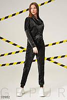 Бархатный женский спортивный костюм S M L XL 2XL