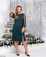 Нарядное женское платье с разрезом размеры 48-54 арт 1064