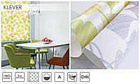 Красивые тканевые ролеты Клевер(Гинкго Билоба) цвет Жёлтый