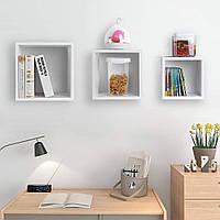 Настенная полка для книг, КОМПЛЕКТ навесных полок (3 штуки) из ДСП (4 ЦВЕТА) Возможны Ваши размеры