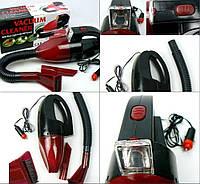 Пилосос автомобільний червоний Vacuum Cleaner
