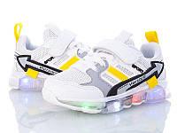 Детские кроссовки W.Niko для девочек Размеры 26- 30 с мигающей подошвой Хит продаж