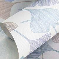 Красивые тканевые ролеты Клевер(Гинкго Билоба) цвет Серый