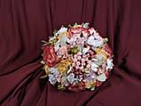 Свадебный букет-дублер для невесты из пионов с реалистичной ножкой, фото 2