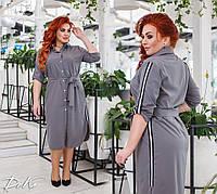Летнее платье рубашка легкое супер софт с лампасами размеры: 42-44,46-48,50-52,54-56