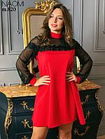 Нарядное платье с сеткой горох, фото 1