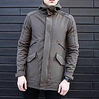 Мужская демисезонная куртка Pobedov Soft Shell «Japan» хаки