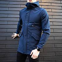 Мужская демисезонная куртка Pobedov Soft Shell «Japan» синяя