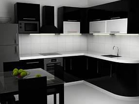 Кухня фарбований мдф Black & White, фото 3