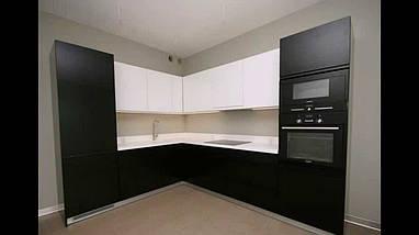 Кухня фарбований мдф Black & White, фото 2