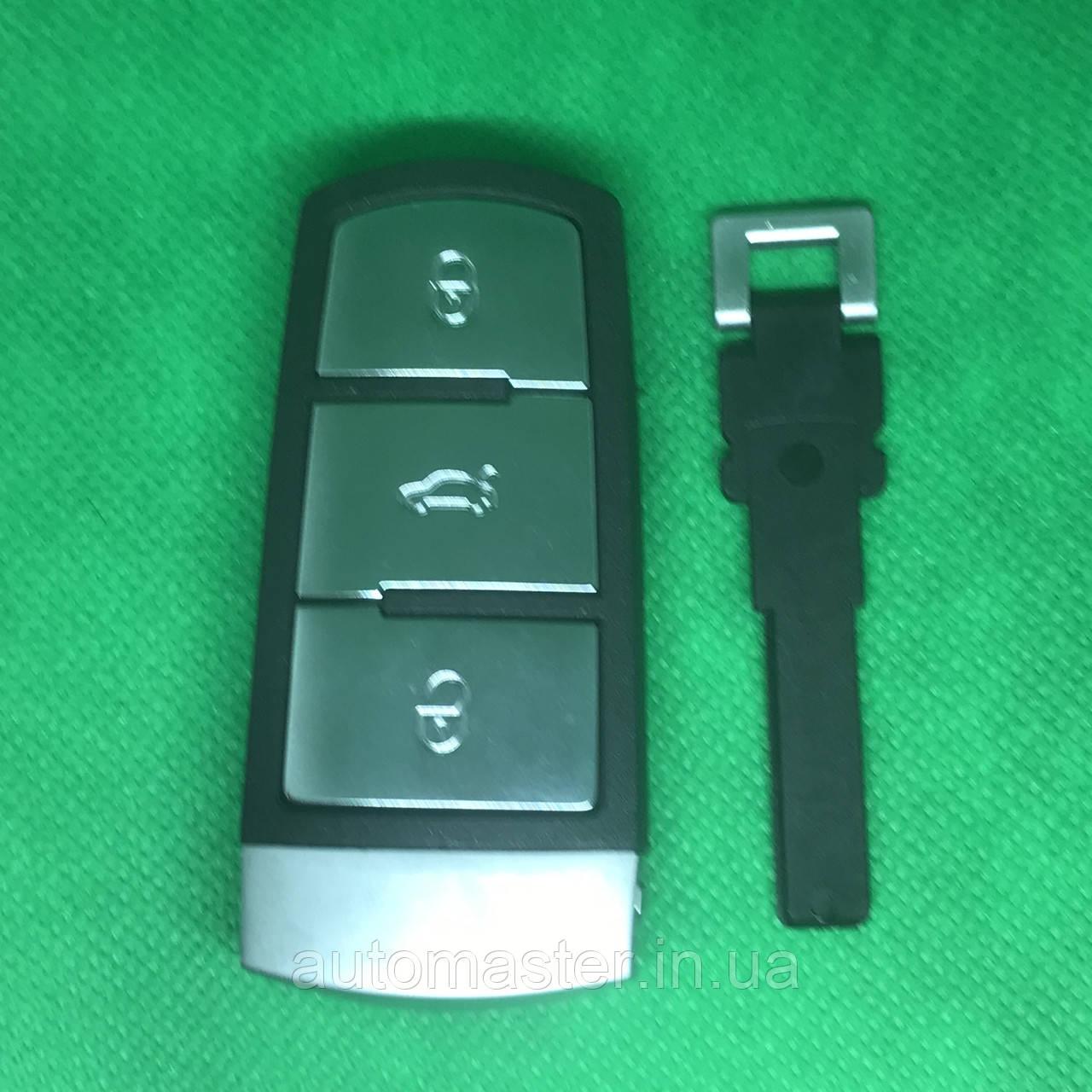 Автомобильный смарт ключ  Фольксваген Volkswagen Passat ,Passat CC3 кнопки с частотой 433 MHz ID48