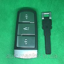 Автомобильный смарт ключ  Фольксваген Volkswagen Passat ,Passat CC 3 кнопки с частотой 433 MHz ID48