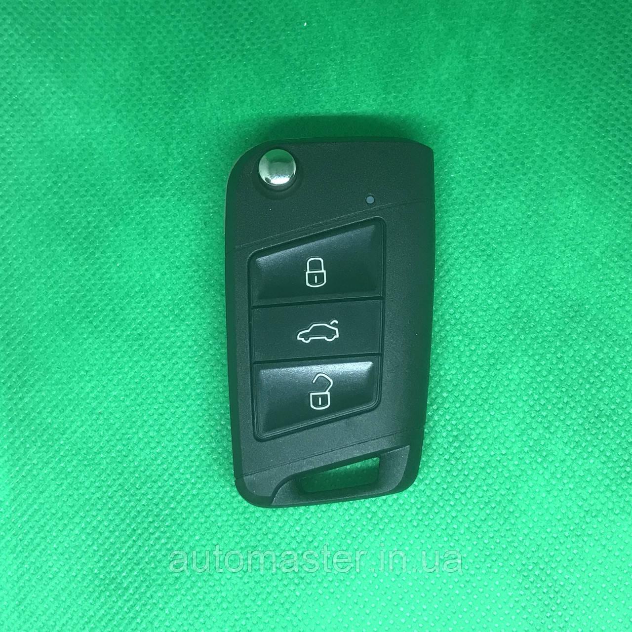 Ключ новый стиль Фольксваген Volkswagen Caddy,Polo,Jetta  3 кнопки  5K0 959 753 AB, 5K0 837 202AD 433MHz,ID48