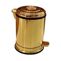 Ведро для мусора с доводчиком LUX Deco  Золото, 6л (554461)