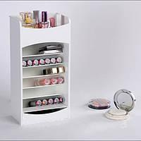 Вертикальний органайзер для косметики Cosmake Lipstick & Nail Polish Organizer № B47 Білий