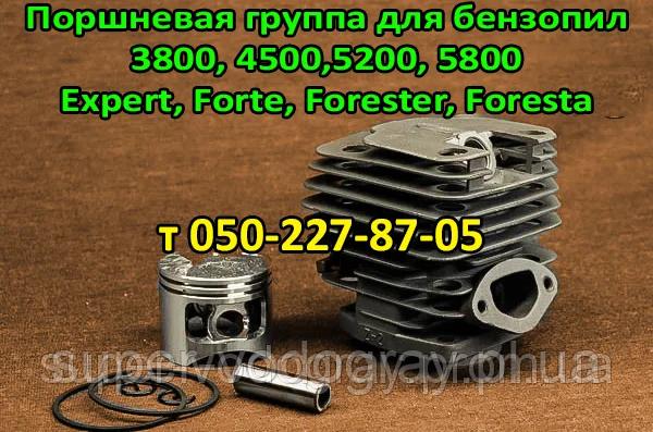 Поршневая для бензопилы Expert, Forte, Forester, Foresta  ( 3800, 4500, 5200, 5800 )
