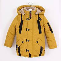 Зимняя куртка-парка для мальчика. На овчине. Р. 26-36. Очень теплая и качественная.