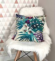 """Декоративная подушка с тропическим принтом """"Tropical"""""""