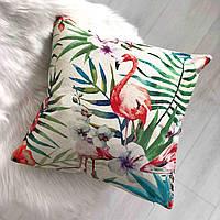 "Декоративная подушка ""Tropical flamingo"""
