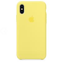 Силиконовый чехол - Silicone Case iPhone X/XS Желтый (Pollen)