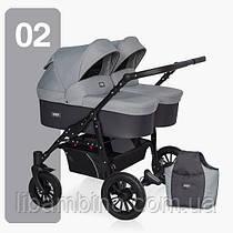 Дитяча універсальна коляска для двійні Riko Saxo 02