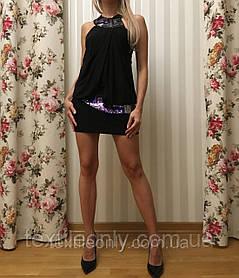 Платье Seam c поясом и стразами