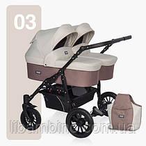Дитяча універсальна коляска для двійні Riko Saxo 03