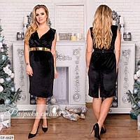 Модное стильное платье из велюра размеры 48-54 арт 708