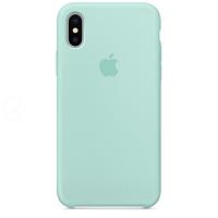 Силиконовый чехол - Silicone Case iPhone X/XS Морская волна (Aquamarine)