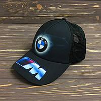 """Кепка """"BMW"""" с черной сеткой, фото 1"""