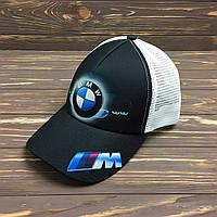 """Кепка """"BMW"""" с белой сеткой, фото 1"""
