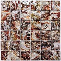 Стеклянная мраморная мозаика для ванной, кухни, гостинной, магазина, кафе MSR-3027