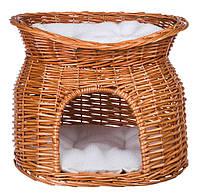 Trixie (Трикси) Wicker Cave with Bed on Top Плетеный домик для кошек 54 × 43 × 37 см