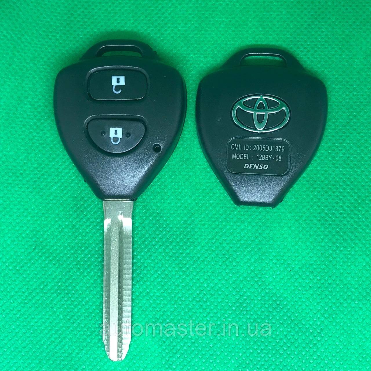Автоключ для Toyota (Тойота) Camry, Corolla 2 - кнопки, лезвие TOY 43, 433 Mhz , 4D67 chip, HYQ12BBY