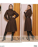 Модное стильное повседневное платье размеры 48-58 арт 758